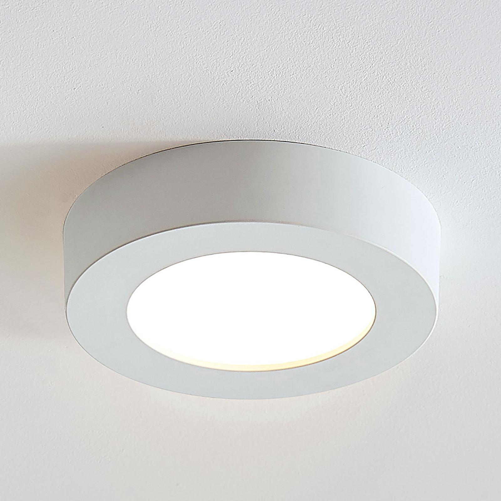 LED plafondlamp Marlo wit 3.000K rond 18,2 cm