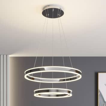 LED hanglamp Lyani, 2 ringen onder elkaar