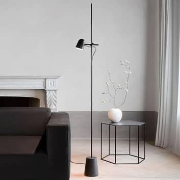 Luceplan Counterbalance -LED-lattiavalo, musta