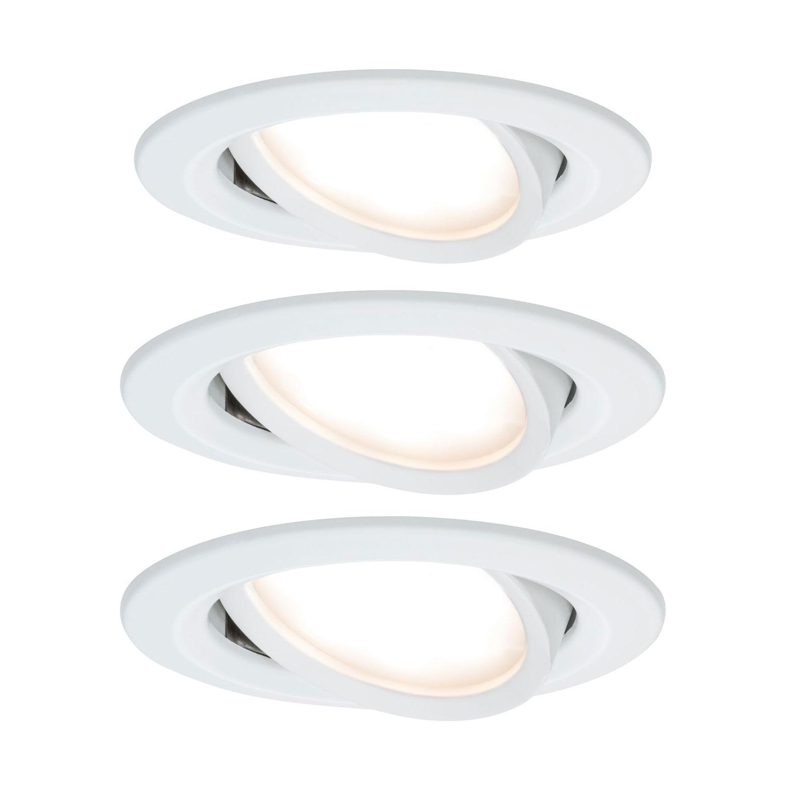 Paulmann Nova LED-inbyggnadsspot 3-pack vit