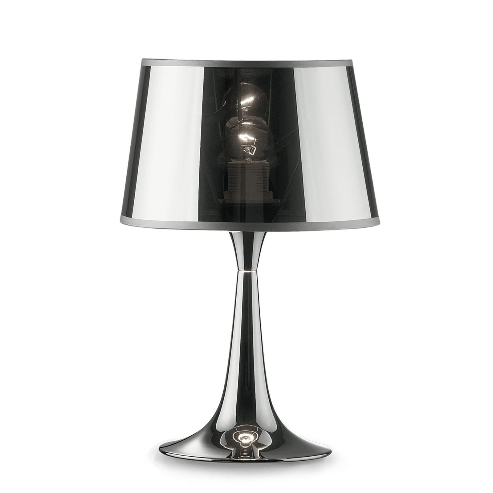 Stolní lampa London Cromo výška 36,5 cm
