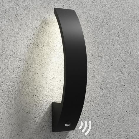 Floyd utendørs LED-vegglampe med sensor, buet