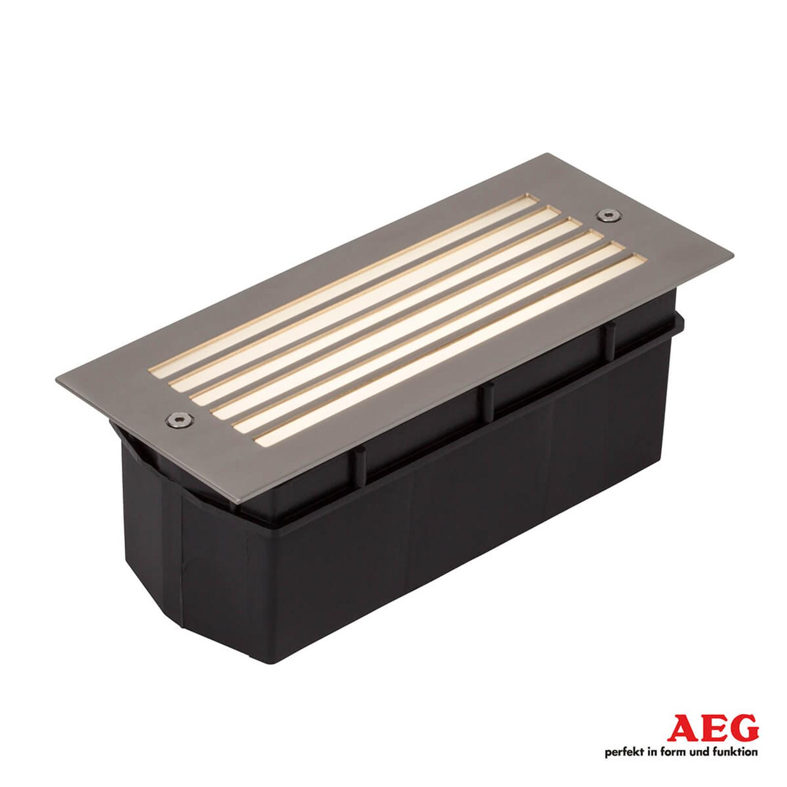 Wall utendørs LED-vegginnfellingslampe med raster