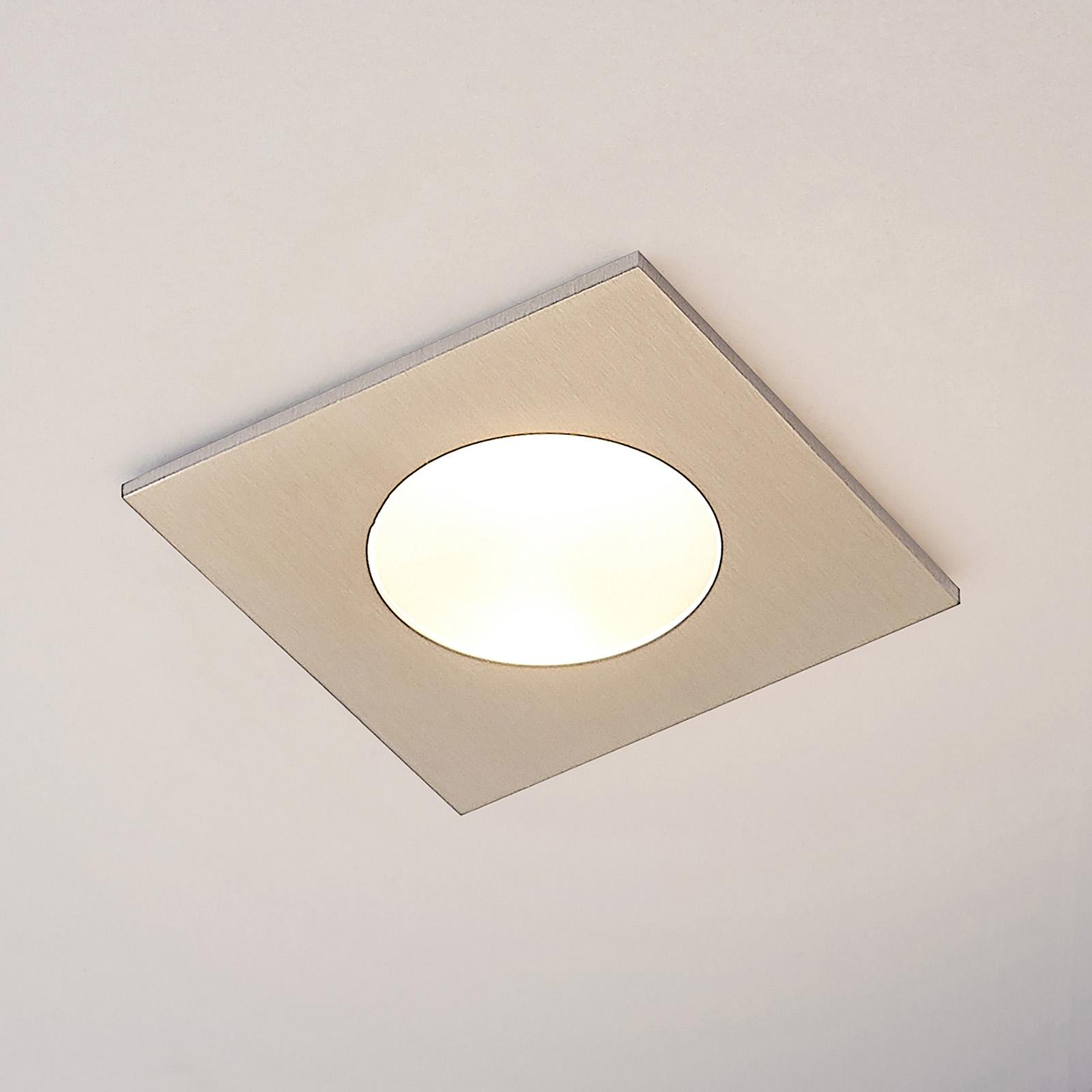 Lucande Celestina indbygningslampe, IP65, kantet
