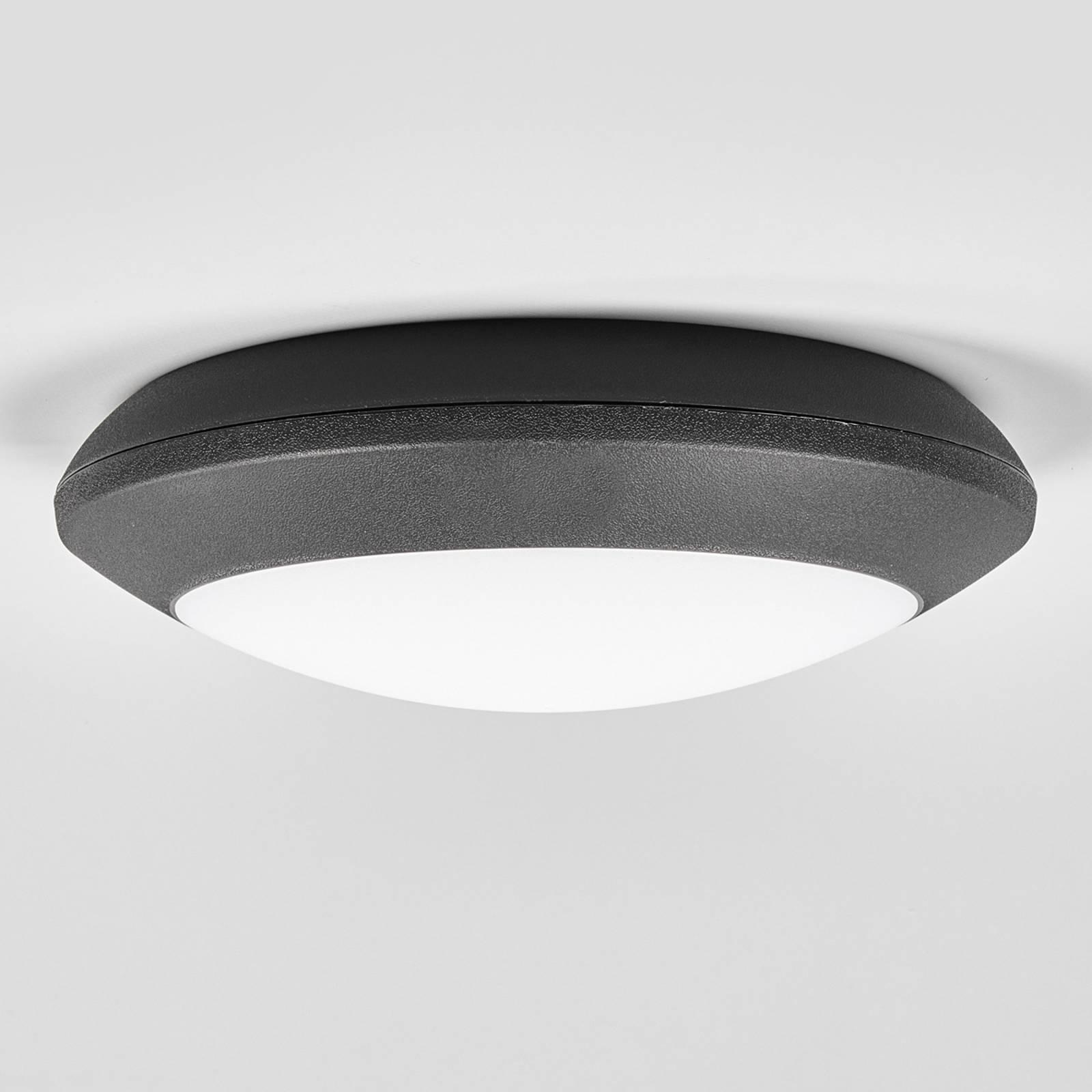Lampa sufitowa zewnętrzna LED Carlo, czarna, CCT