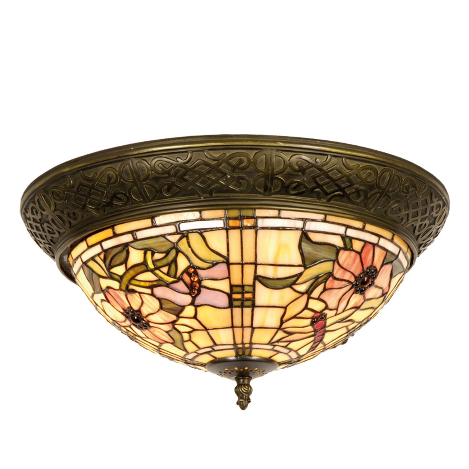 Mira - taklampe i Tiffany-stil