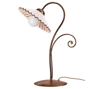 Tafellamp Rosina in brons met keramische kap