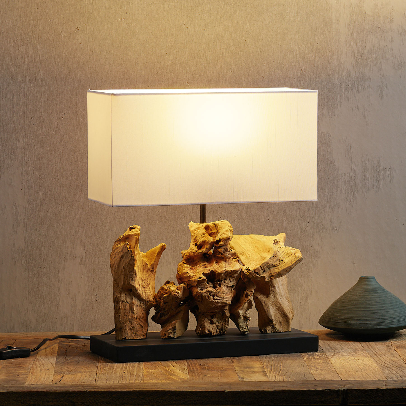 Kare Nature Vertical Table Lamp With Driftwood Lights Co Uk