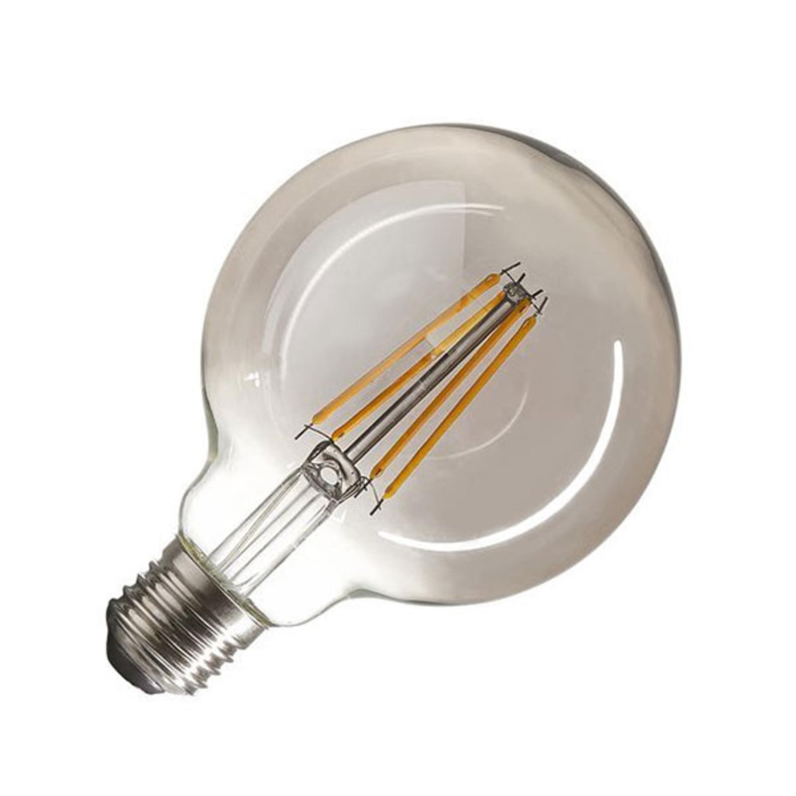 SLV LED-Globe E27 7W G95 Rauchglas dimmbar 2.700K