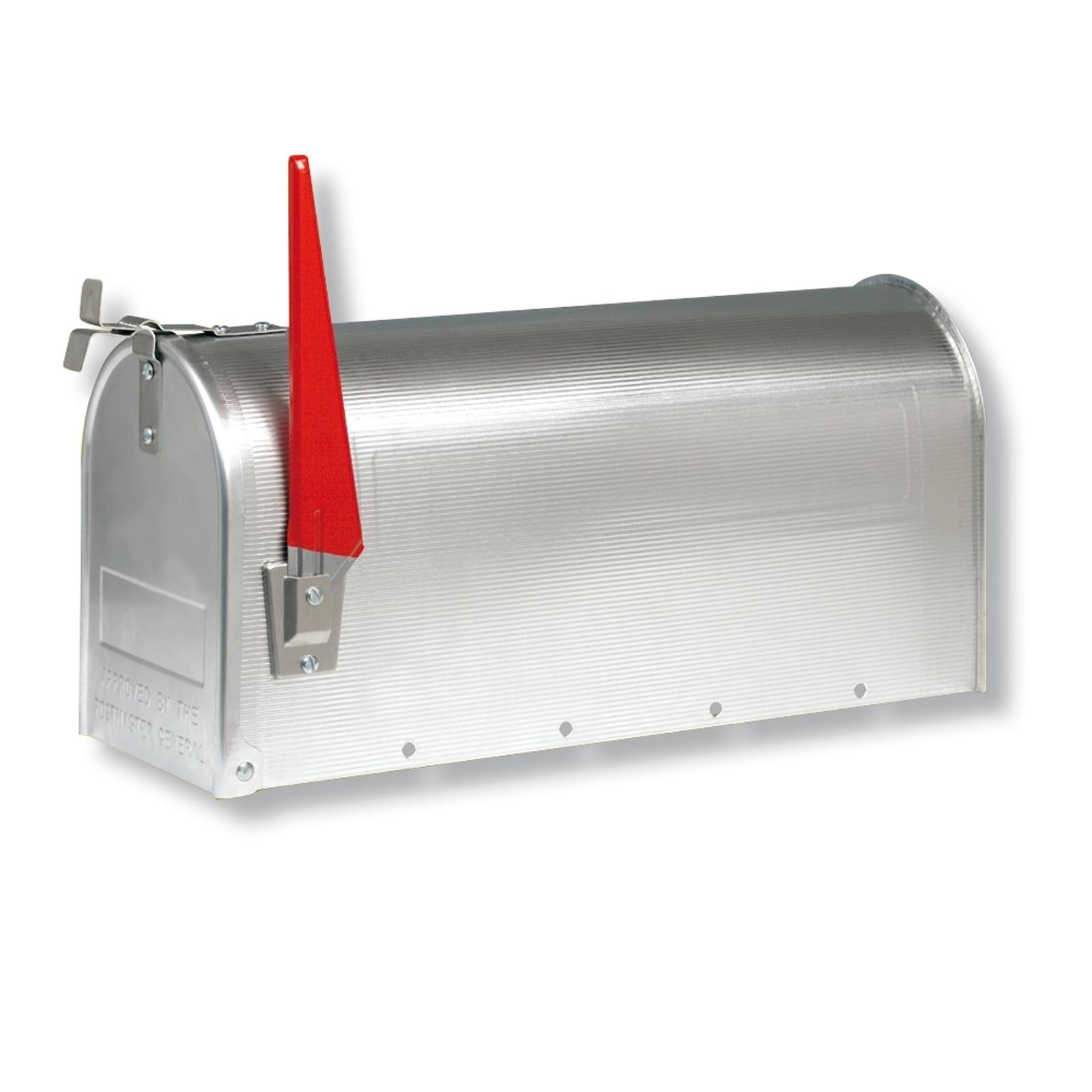 U.S. MAILBOX con bandera giratoria, aluminio