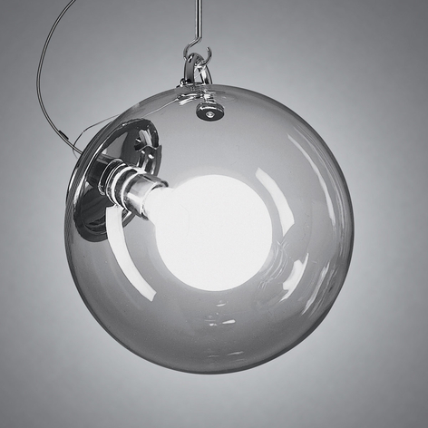 Artemide Miconos glazen hanglamp in chroom