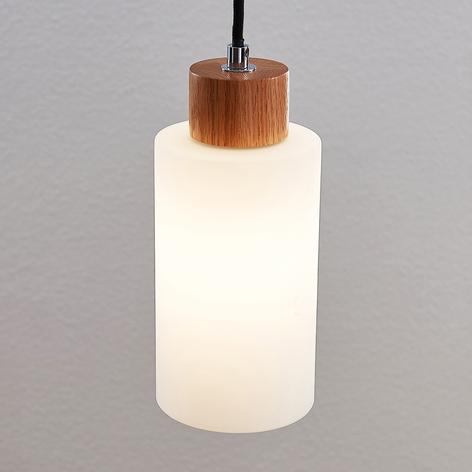 Lindby Nicus drewniana lampa wisząca, 1-punktowa