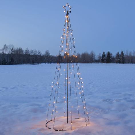 LED-Außendeko Light Tree, LEDs teils blinkend