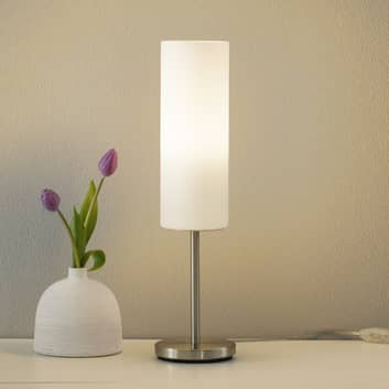Charmante tafellamp TROY wit