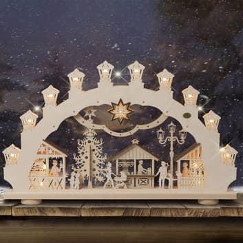 Arc lumineux Marché de Noël 3D, 2 motifs