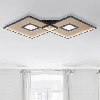 LED-taklampe Amara, to firkanter