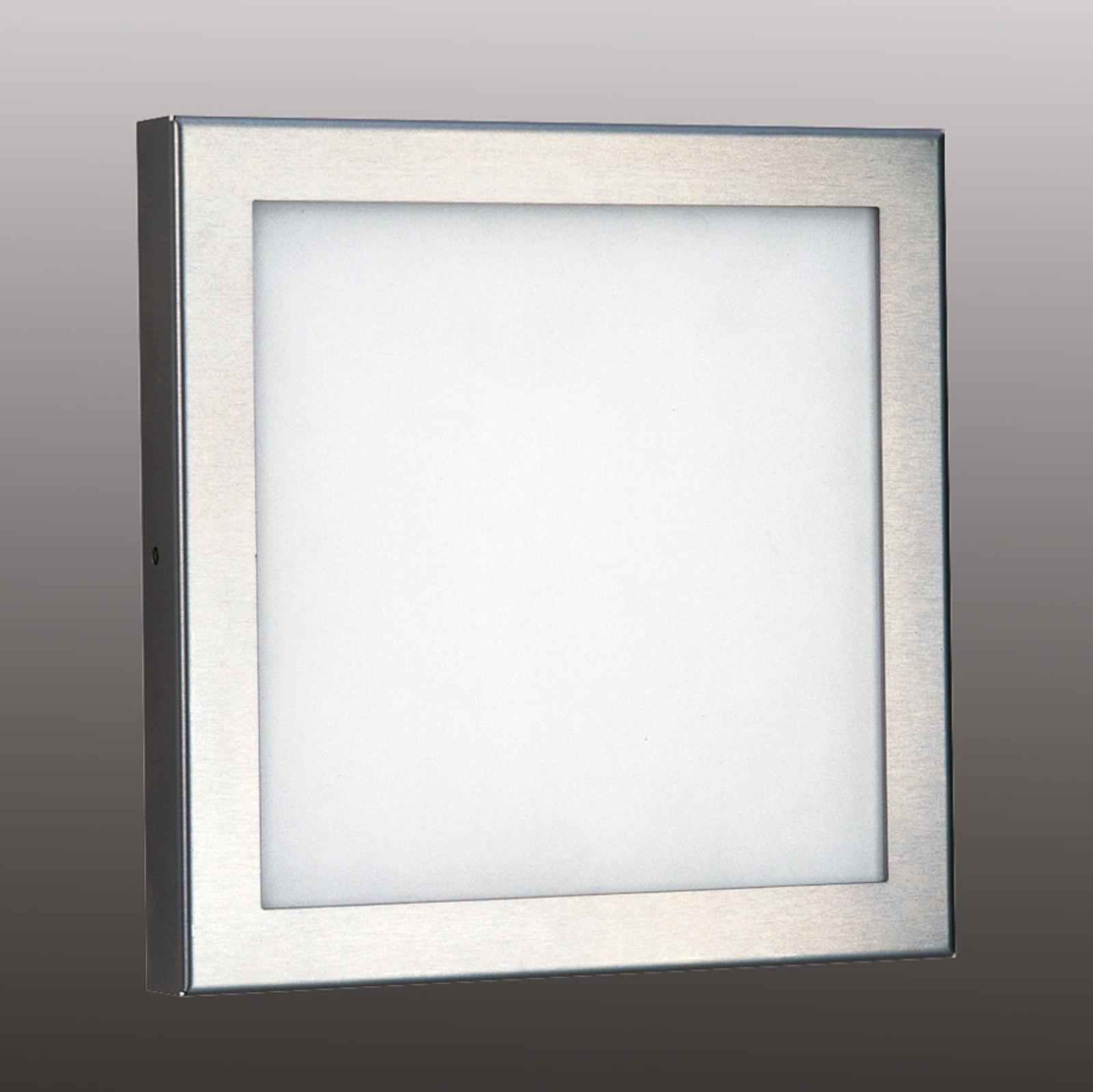 Hoogw. roestvrijstalen buitenwandlamp Mette LED