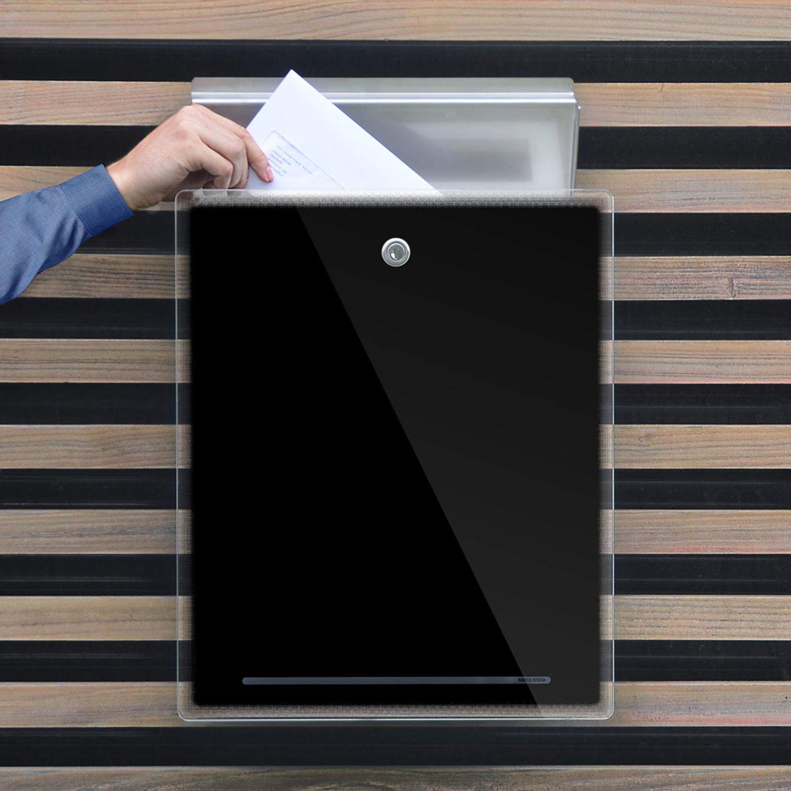 Postbosk Letterman III, svart
