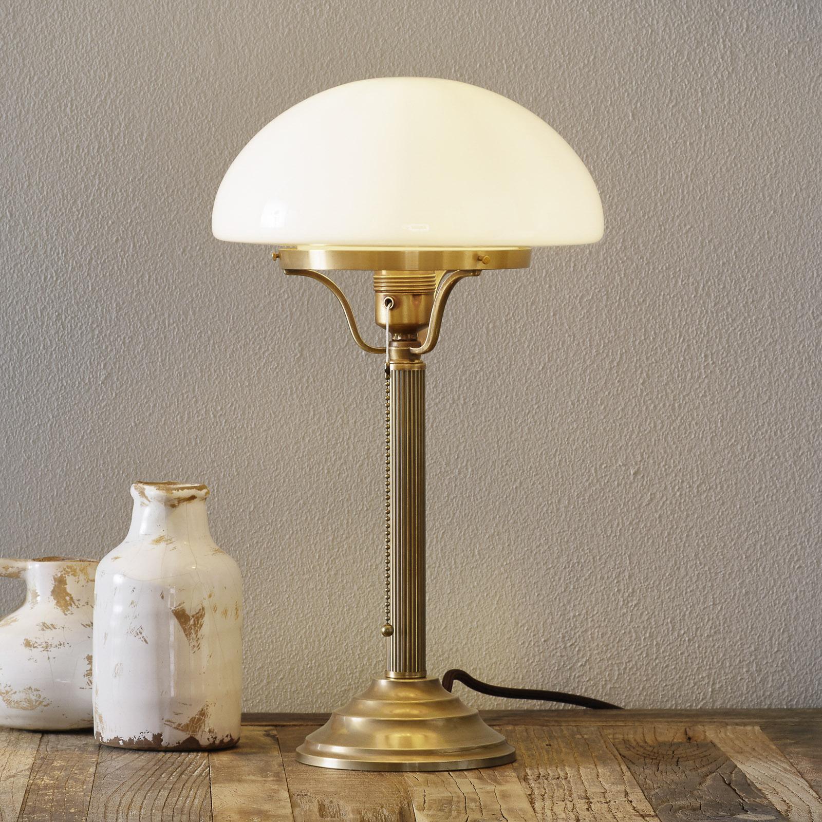 Klassieke tafellamp HARI in messing