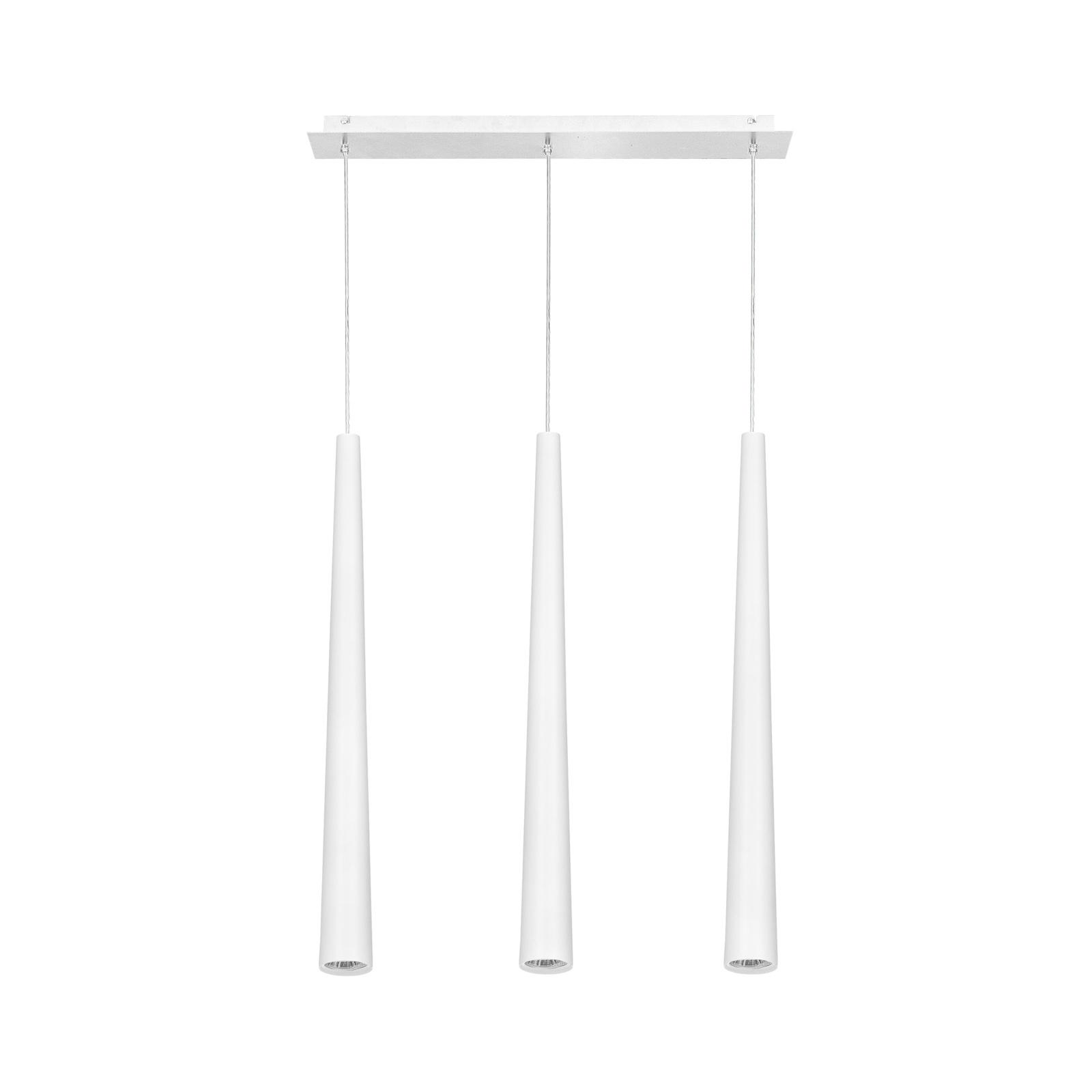 Suspension Quebeck, à 3 lampes, blanche