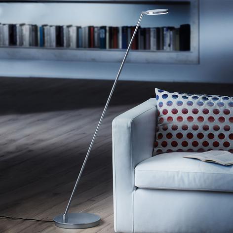 Holtkötter Plano S stojací lampa LED, hliník matný