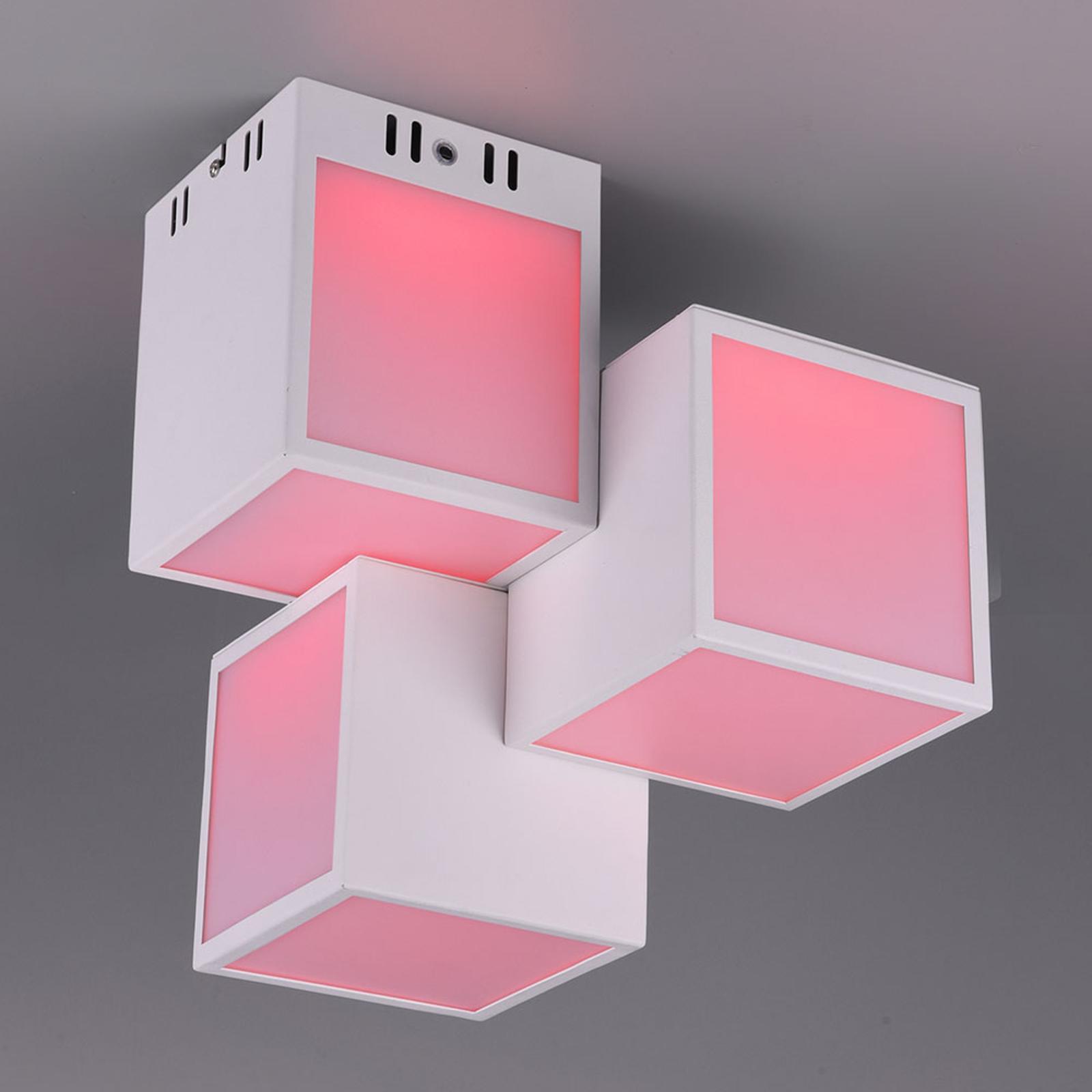 Trio WiZ Oscar lampa sufitowa LED 30x30cm, biała