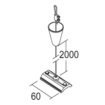 Ivela touwophanging 2 meter voor 3-fasensysteem