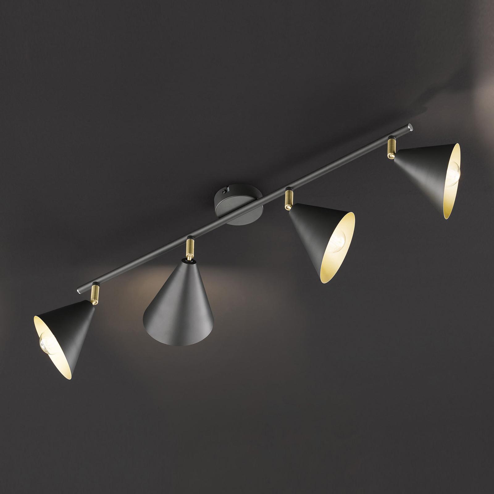 Plafonnier Gloria, réglable, à 4 lampes