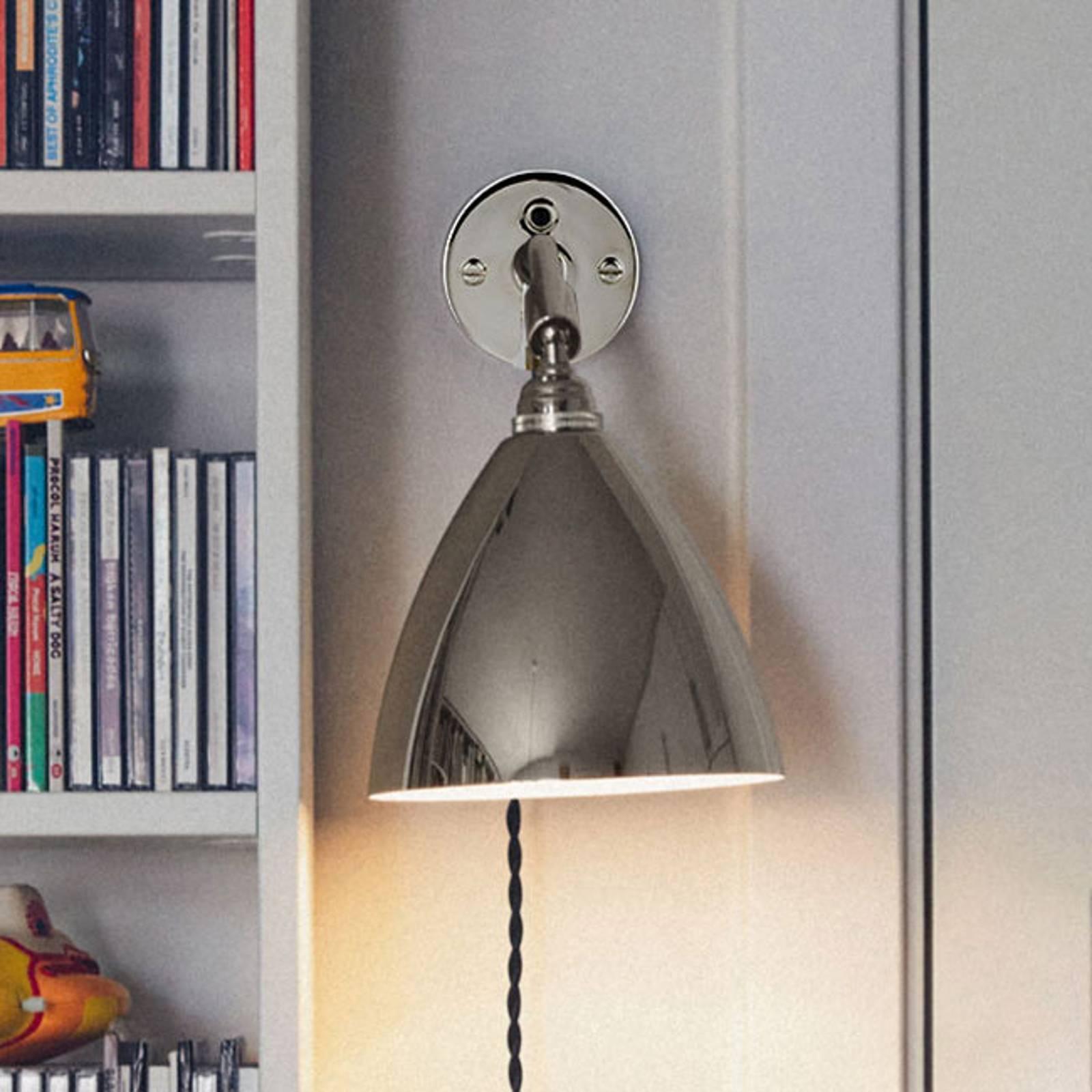GUBI Bestlite BL7 wandlamp, gelimiteerd, nikkel