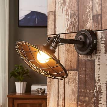 Pekka – lampa ścienna z osłoną z siatki