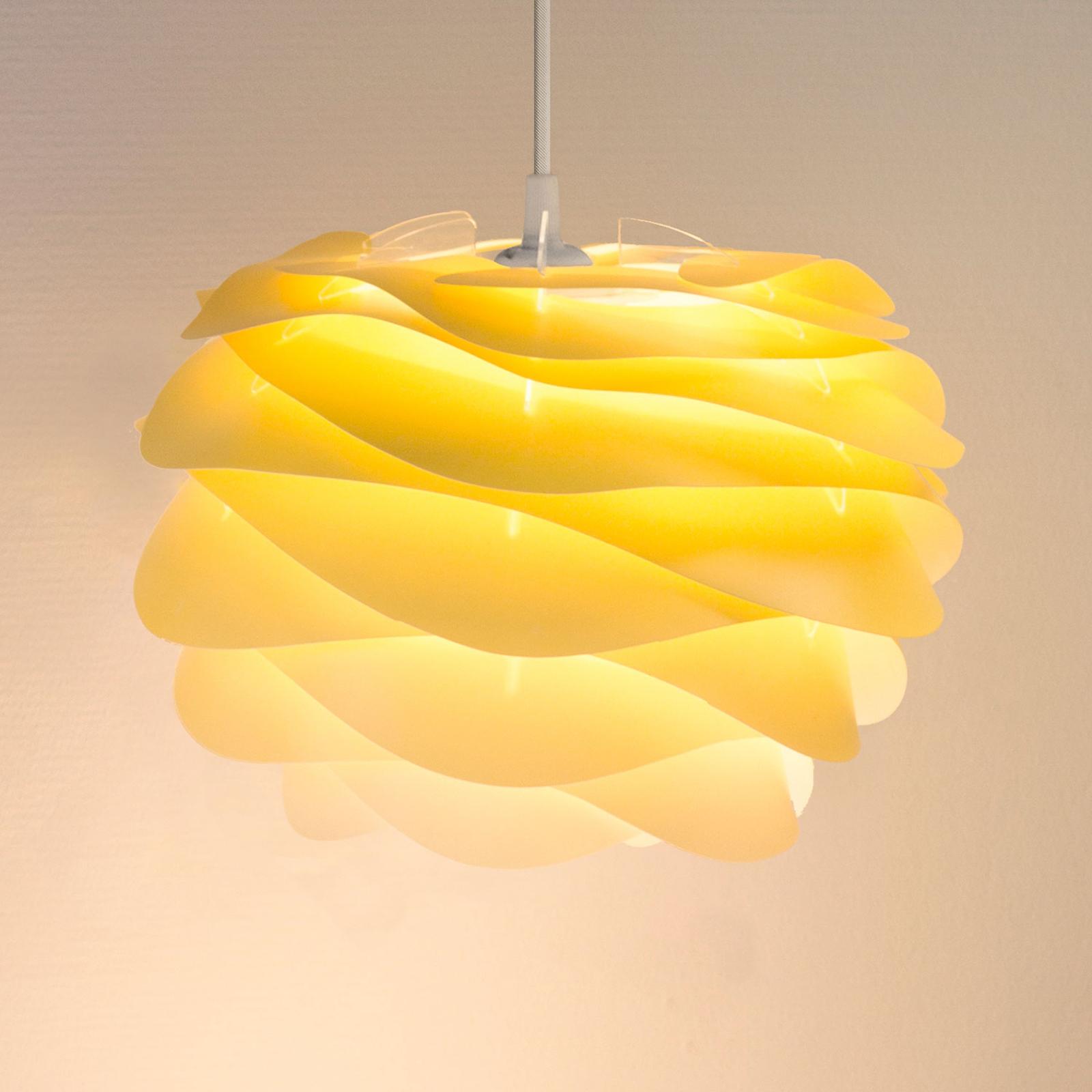 UMAGE Carmina Mini Hängeleuchte gelb/Kabel weiß