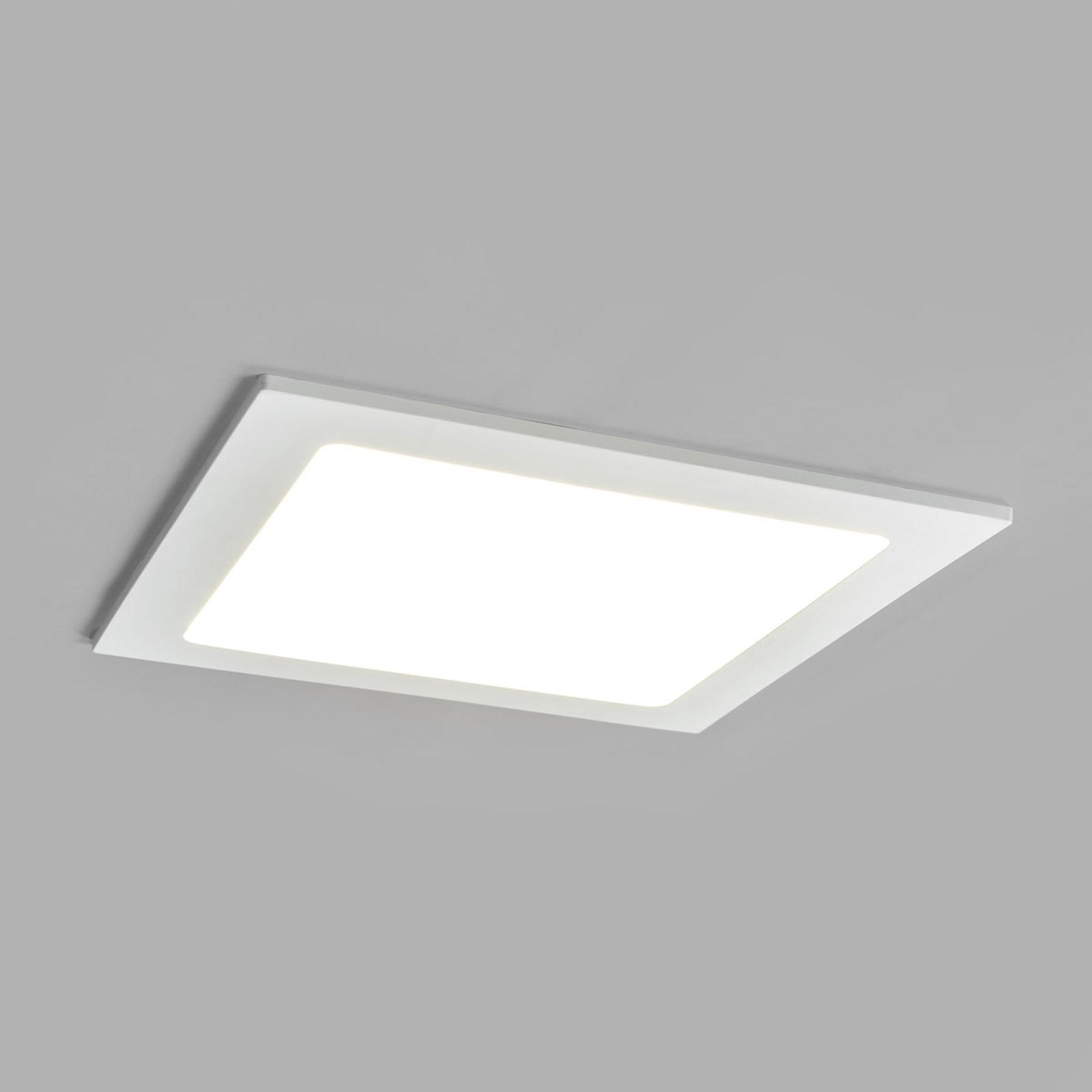 LED-innfelt spot Joki, hvit, 4000K kantet 22cm