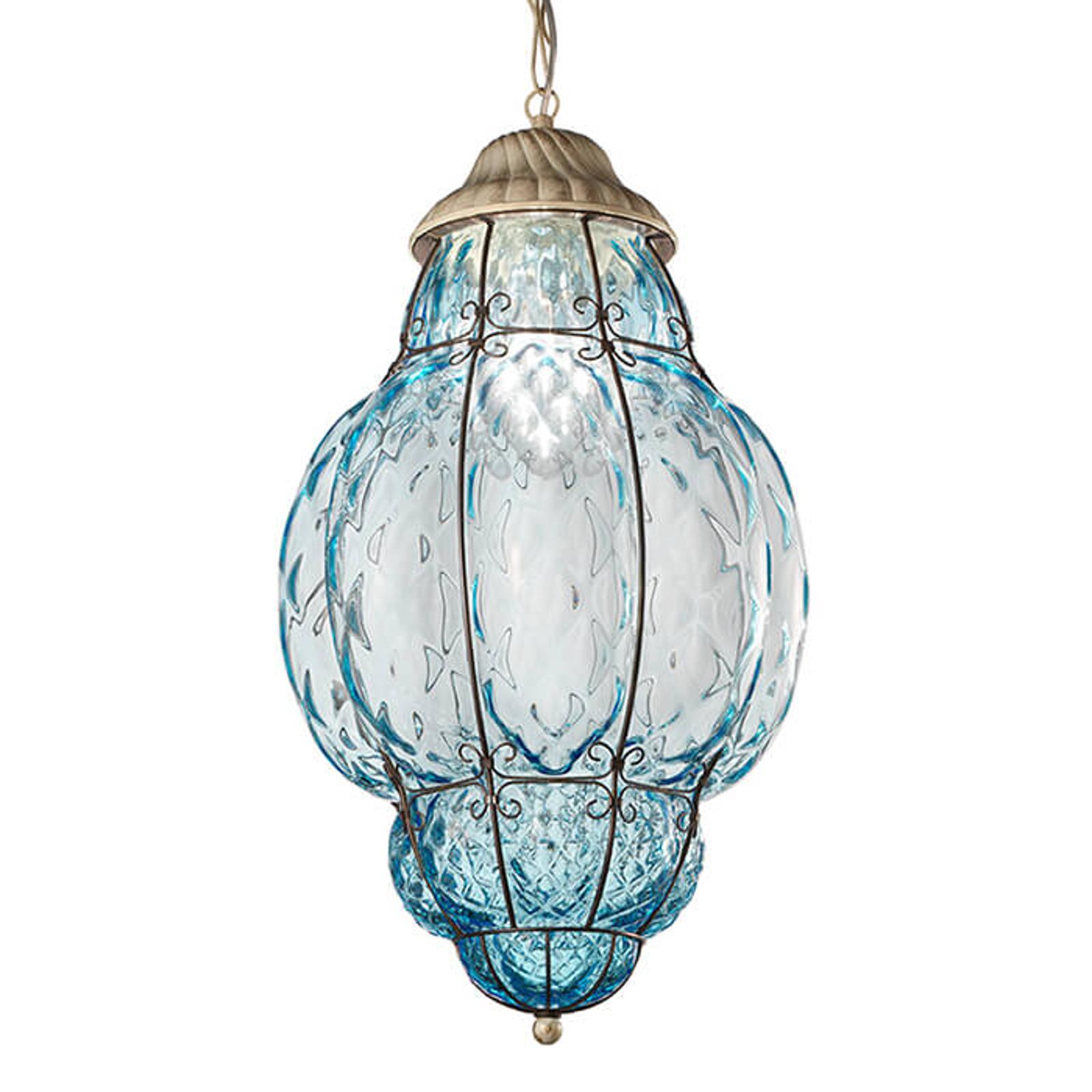 Lampada a sospensione Classic da esterni, blu