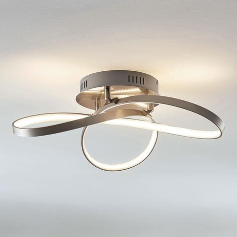 Lámpara LED de techo Saliha con formas modernas