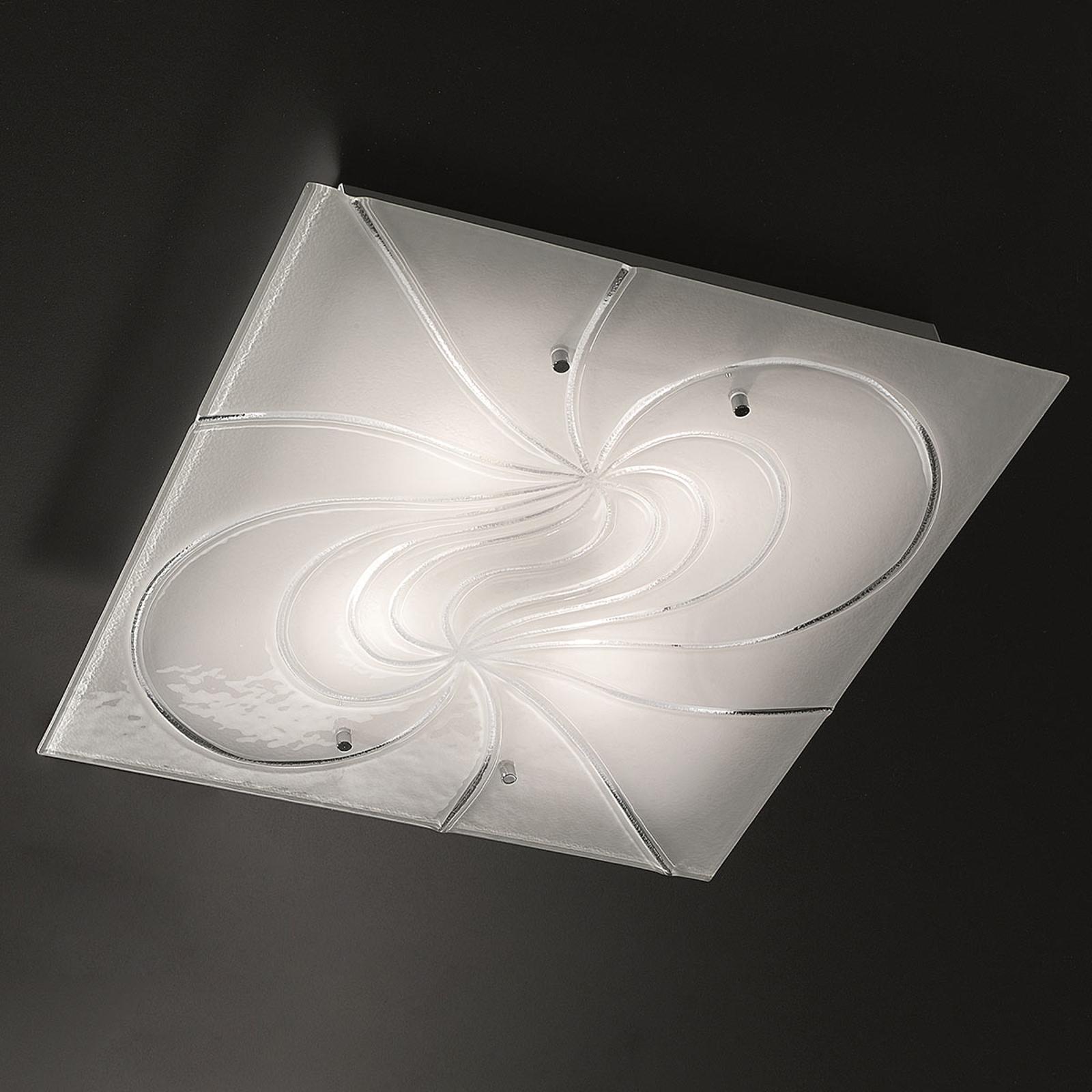 Kwadratowa lampa sufitowa Mistral 50 cm