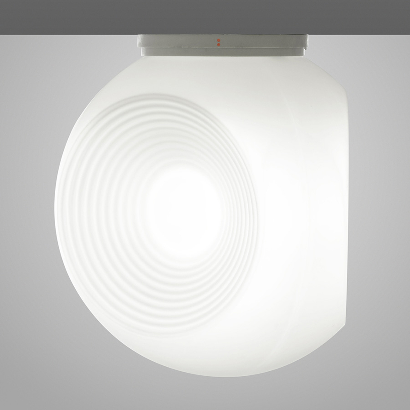 Fabbian Eyes - hvid loftlampe i glas