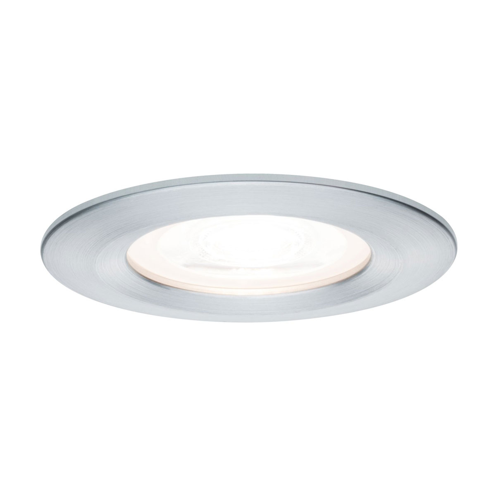 Paulmann LED-spot Nova rund, IP44 dimbar aluminium