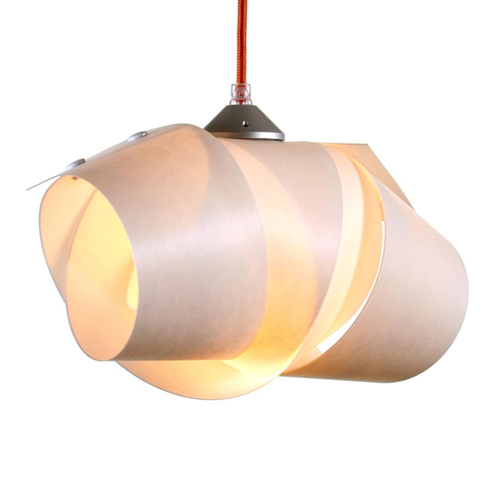 Lampa wisząca Bohannon czerwony kabel