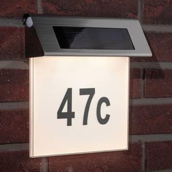 Paulmann huisnr.-lamp LED op zonne-energie, IP44
