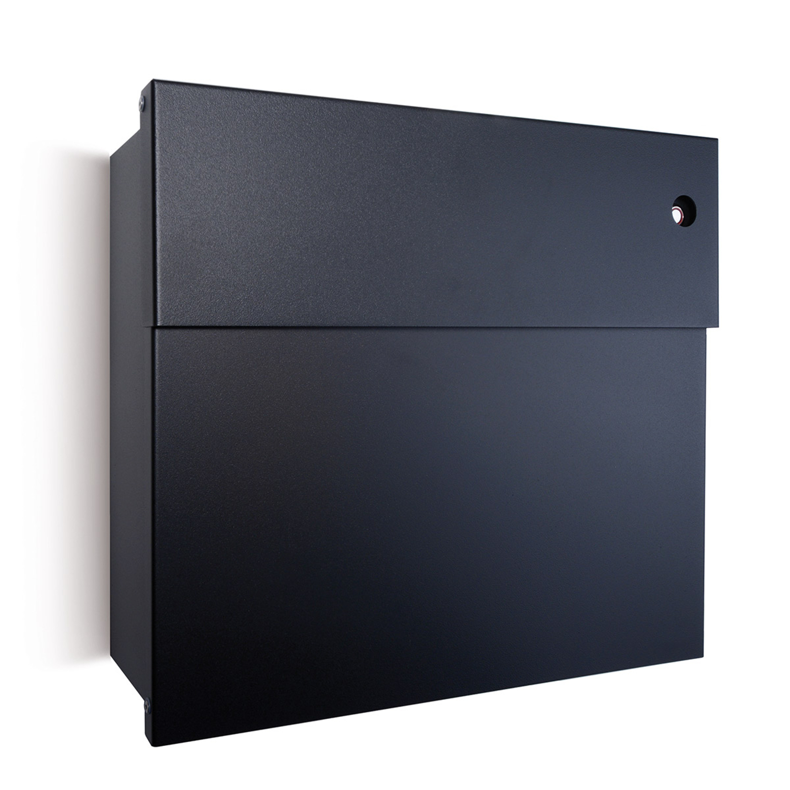 Letterman postkasse IV, rød klokke, sort