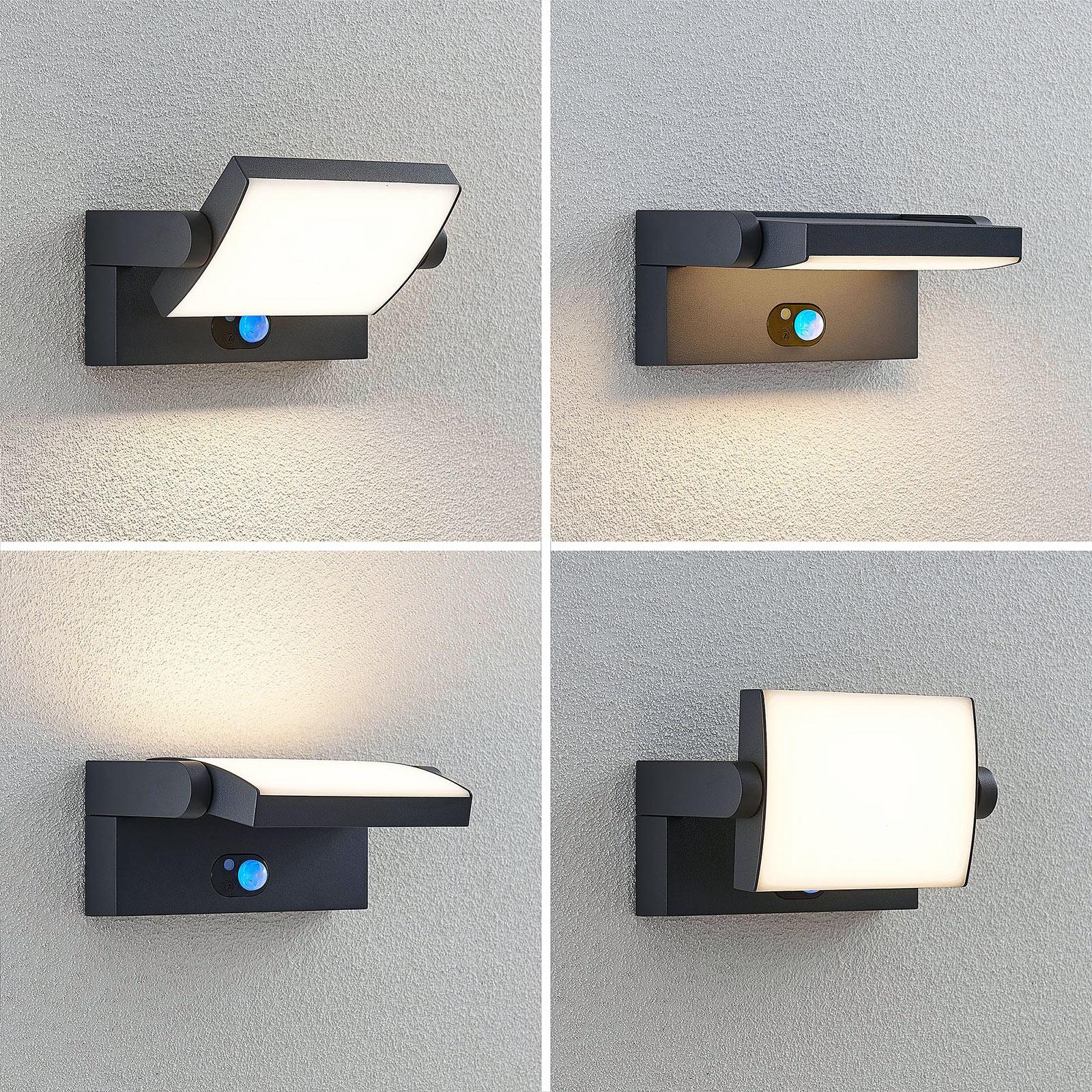 Aurinkokäyttöinen LED-seinävalaisin Sherin sensori