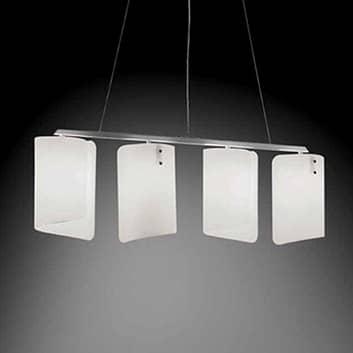 Lampada a sospensione Papiro a 4 luci