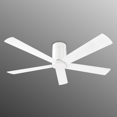 Ventil. de plafond Rodas, design clair blanc