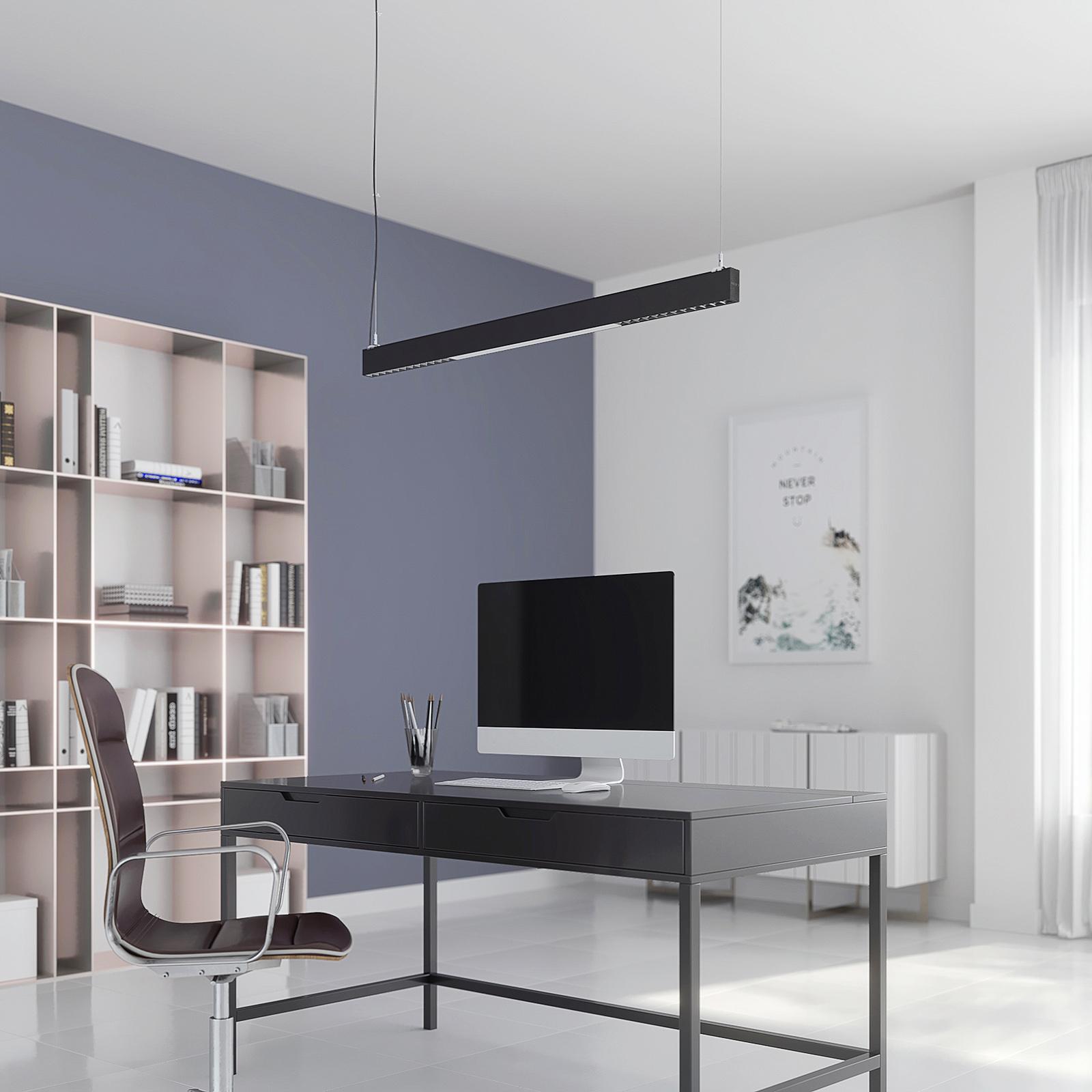 Arcchio Ingura lampa wisząca LED do biura, czarna