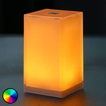 Lampada da tavolo portatile Cub, comandi app, RGBW