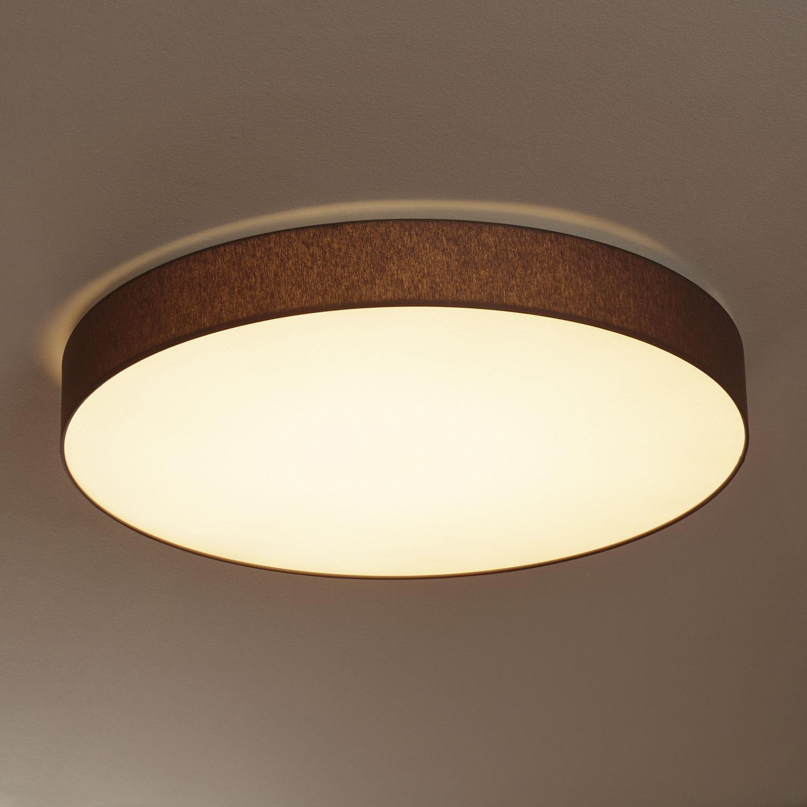 Lampa sufitowa LED Luno, klosz z tkaniny chintz