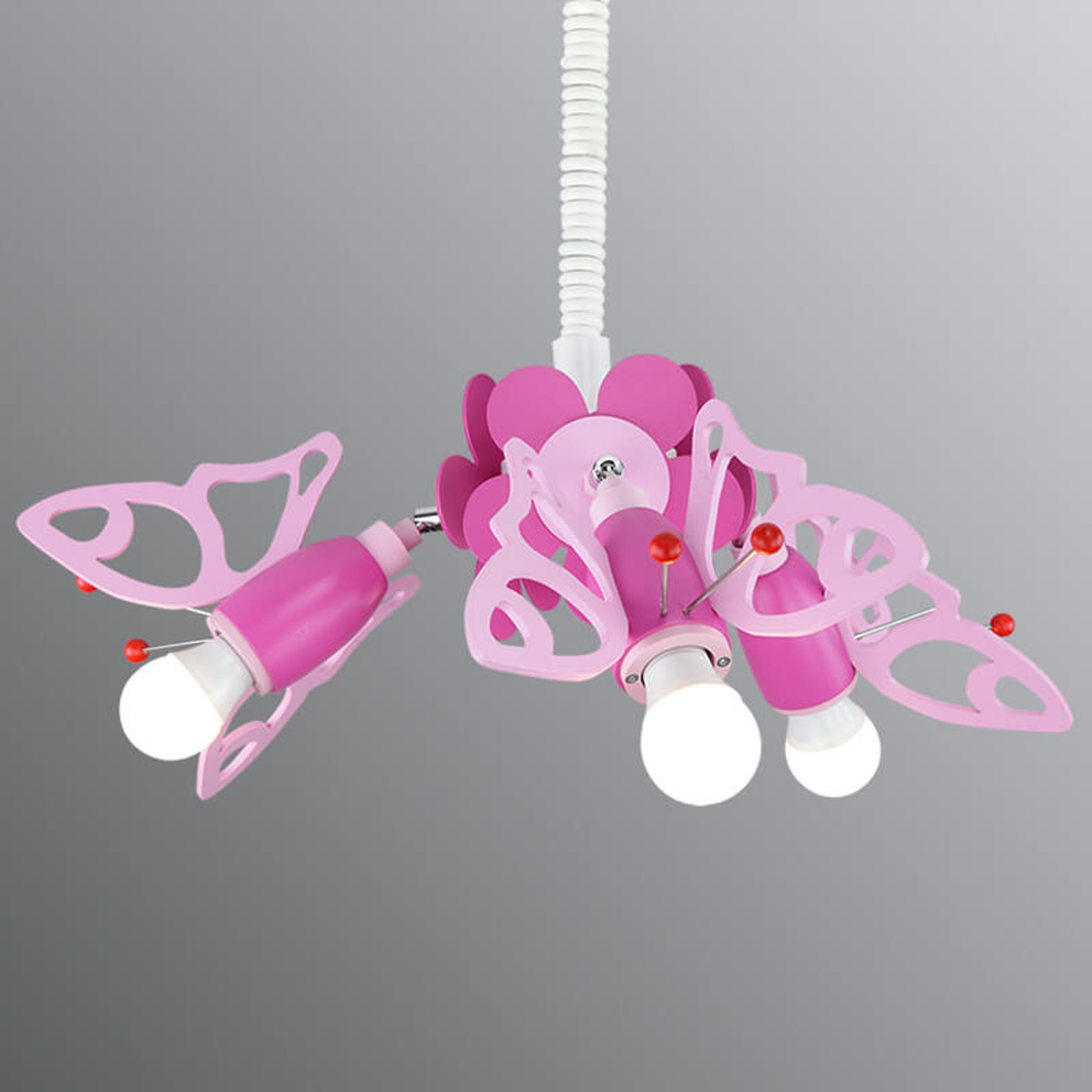Regulowana dziecięca lampa wisząca Motyl