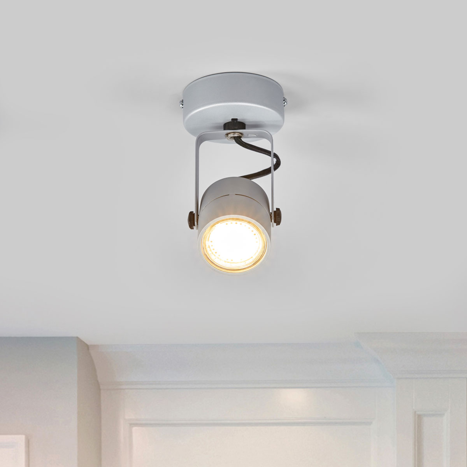 Wand- & plafondlamp SPOT 79 230V zilvergrijs