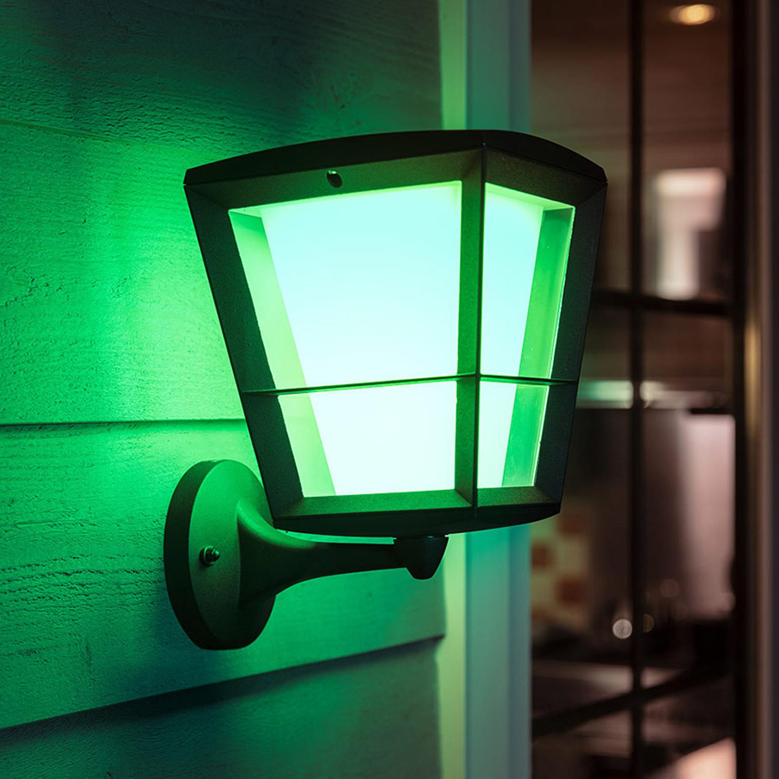 Philips Hue White+Color Econic Wandleuchte, oben