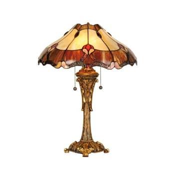 Elegant bordslampa Cambria, Tiffanystil